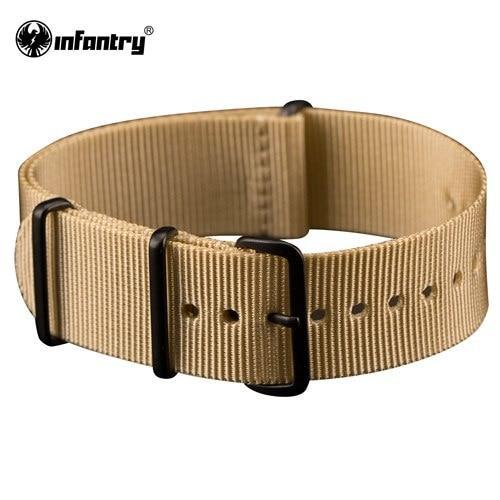 PINkart-USA China / Desert / 20mm 20Mm 22Mm Nato Strap Nylon Watch Straps G10 4 Rings Watch Band Belt Military Army Diver Watchband