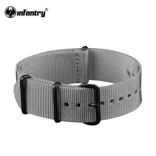 PINkart-USA China / Gray / 20mm 20Mm 22Mm Nato Strap Nylon Watch Straps G10 4 Rings Watch Band Belt Military Army Diver Watchband