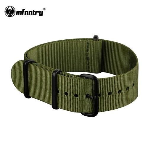 PINkart-USA China / Green / 20mm 20Mm 22Mm Nato Strap Nylon Watch Straps G10 4 Rings Watch Band Belt Military Army Diver Watchband