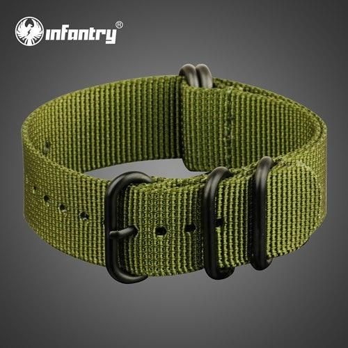 PINkart-USA China / Green / 22mm 22Mm Nato Strap Zulu Watchband 5 Rings G10 Watch Belt Military Army Watch Band Nylon Diver Bracelet