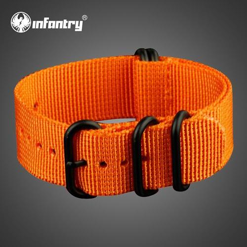 PINkart-USA China / Orange / 22mm 22Mm Nato Strap Zulu Watchband 5 Rings G10 Watch Belt Military Army Watch Band Nylon Diver Bracelet