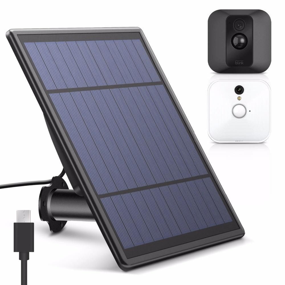Solar Panel For Blink Xt Security Camera, Wall Mount Outdoor Weatherproof  Solar Power Charging