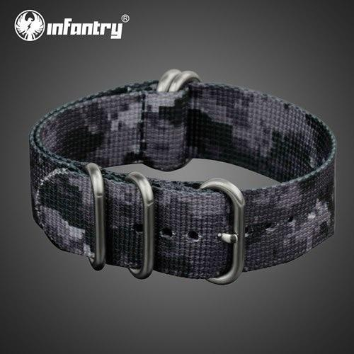 PINkart-USA China / Urban Camo / 22mm 22Mm Nato Strap Zulu Watchband 5 Rings G10 Watch Belt Military Army Watch Band Nylon Diver Bracelet