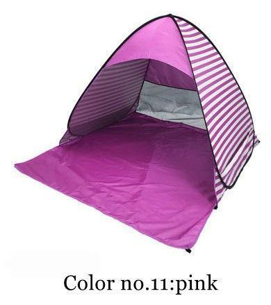 PINkart-USA Color 11 / China Automatically Set Up Camping Beach Shade Tent To Open Quickly Outdoor Uv50+ Protection Pop Up Throw