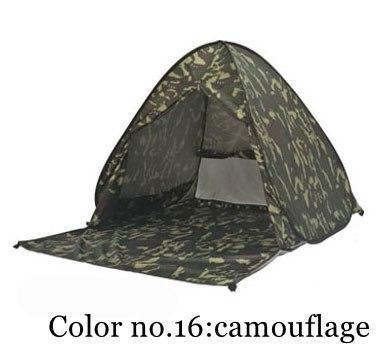 PINkart-USA Color 16 / China Portable Beach Tent!Pop Up Automatically Set Up Camping Beach Tent With Curtain Quickly Open