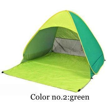 PINkart-USA Color 2 / China Automatically Set Up Camping Beach Shade Tent To Open Quickly Outdoor Uv50+ Protection Pop Up Throw