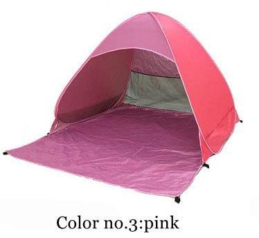 PINkart-USA Color 3 / China Automatically Set Up Camping Beach Shade Tent To Open Quickly Outdoor Uv50+ Protection Pop Up Throw
