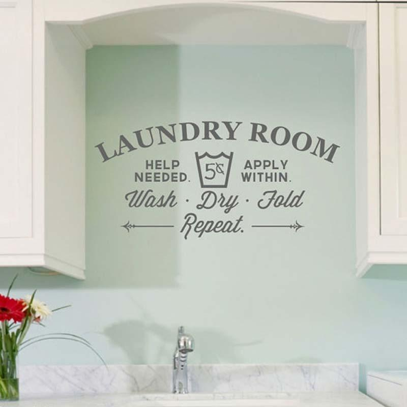 PINkart-USA Creative Laundry Room Bathroom Bathtub Wall Stickers Home Decor Toilet Decal Diy Removable Vinyl