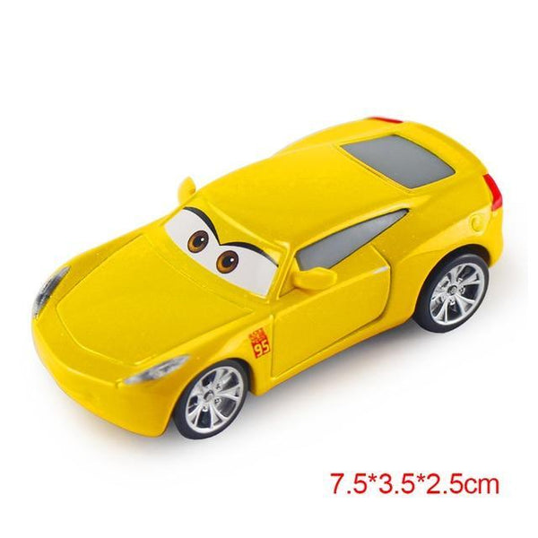 PINkart-USA Cruz Pixar Cars 2 3 Lightning Mcqueen Mater Jackson Storm Ramirez 1:55 Diecast Vehicle Metal Alloy Boy