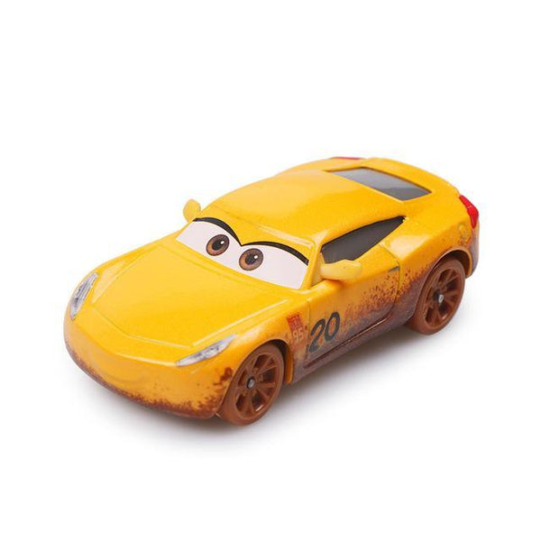 PINkart-USA Cruz Pixar Cars 3 Limited Cruz Ramirez Chick Hicks Lightning Mcqueen 1:55 Diecast Metal Alloy Model