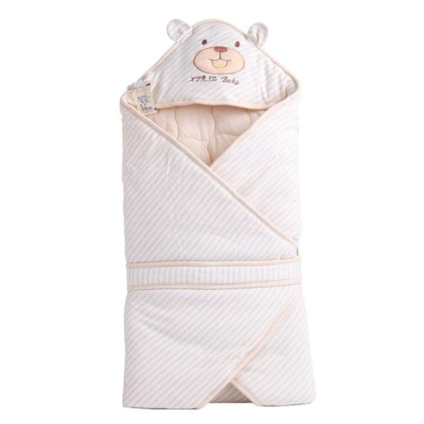 PINkart-USA Cute Bear Shape Baby Sleeping Bag Blanket For Autumn Spring Soft Comfortable Cotton Infant