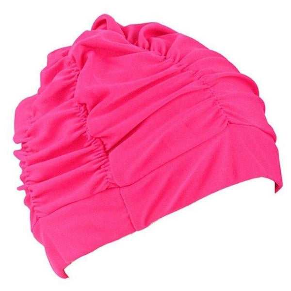 PINkart-USA D / One Size Fit All / China Swimming Hat Women Unisex Girls Long Hair Bathing Cap Vocational Swimming Cap Stretch Drape Swim