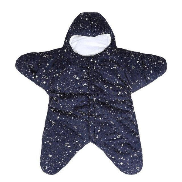 PINkart-USA Dark Blue / 24M Baby Sleeping Bag Star Shape Soft Warm Windproof Multi Function Outdoor Baby Wrap Flannel Inner 0-2