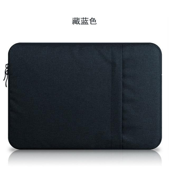 PINkart-USA dark blue / for ipad mini 2 3 4 Nylon Laptop Sleeve Notebook Bag Pouch Case For Macbook Air 11 13 12 15 Pro 13.3 15.4 Retina Unisex
