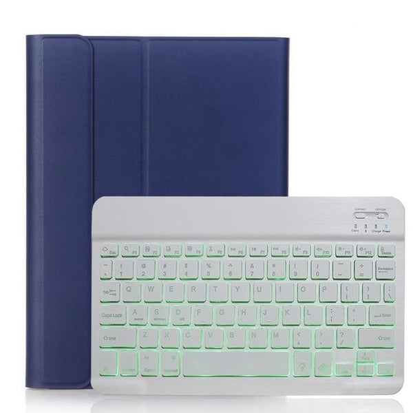 PINkart-USA Dark Blue with White Backlit Keyboard Case for iPad 9.7 2017 2018 5th 6th Generation Case for iPad Air 1 2 Pro 9.7 Cover Bluetooth Keyboard Funda