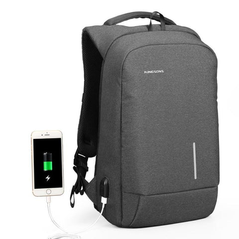 Kingsons Backpack Men 13 15.6 Inch Laptop Anti Theft Bagpack Usb Charging Mini Back Pack For Teenager Boys Travel Bag Mochila