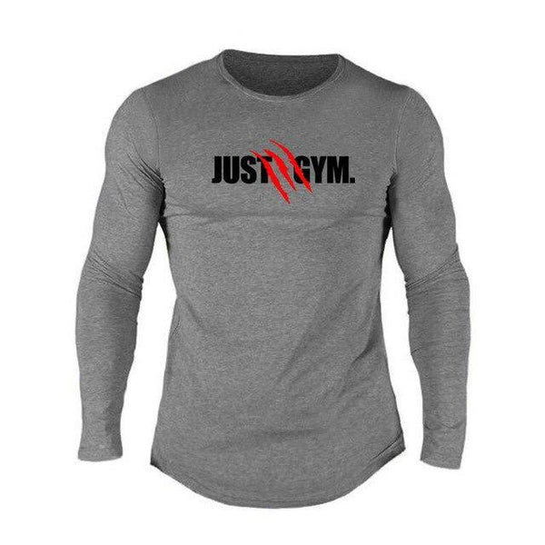 PINkart-USA Dark Grey / L Muscle Guys Mens Sporting O-Neck Long Sleeve T Shirt Homme Autumn Bodybuilding Fitness Clothing