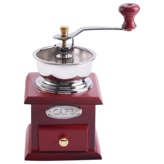 PINkart-USA Dark Khaki Manual Coffee Grinder Molinillo Cafe With Ceramic Millstone Retro Koffiemo Home Decoration Coffee