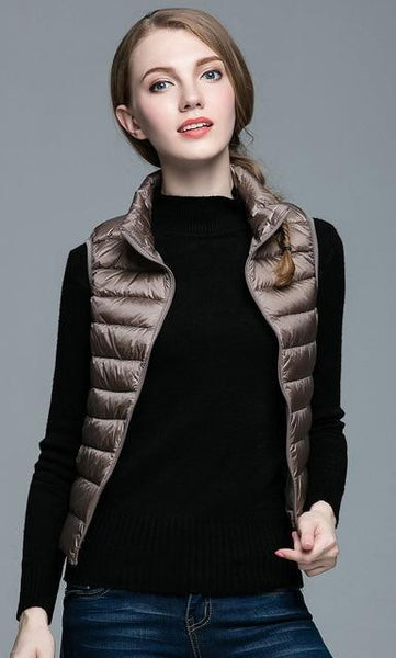 PINkart-USA Dark khaki / S Winter Women 90% White Duck Down V Women'S Ultra Light Duck Down V Jacket Autumn Winter