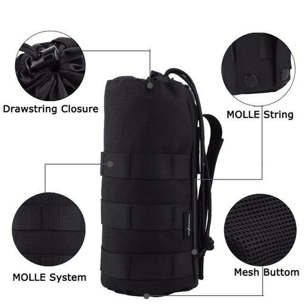 PINkart-USA Default Title 1000D Tactical Water Bottle Pouch Military Molle System Bottle Bag For Backpack Vest Survival