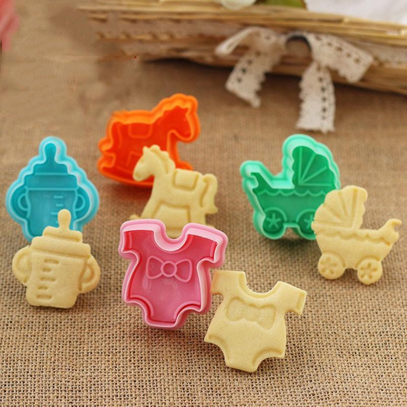 PINkart-USA Default Title 1Set 3D Baby Clothes Shower Hand Press Stamp Biscuit Cake Cookie Bakeware Mould Fondant Cookie Cutters Biscuit Mold Kitchen Diy