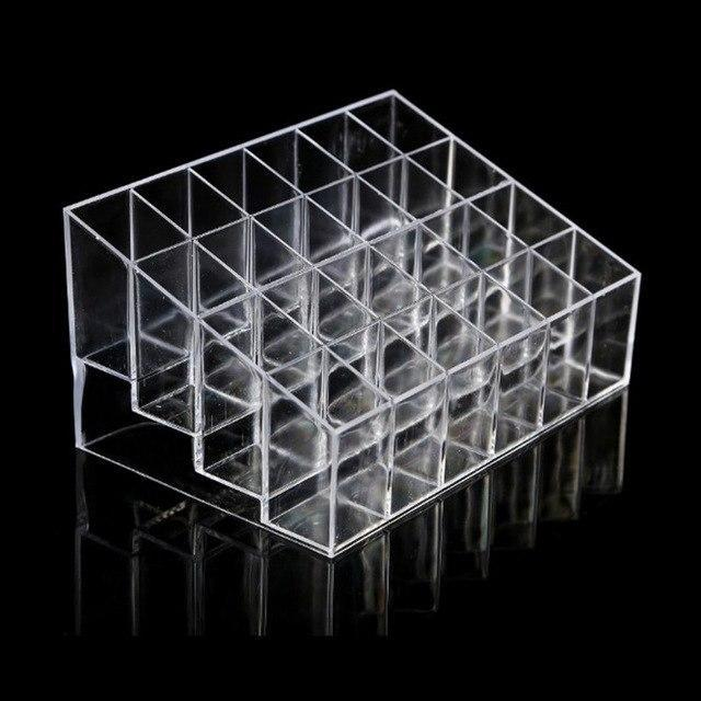 PINkart-USA Default Title 24 Grid Transparent Acrylic Lipsitcks Holder Stand Display Box Makeup Organizer Cosmetic Storage