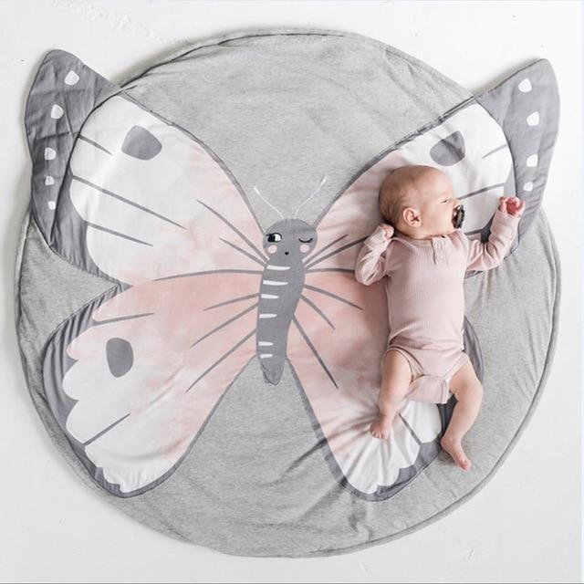 PINkart-USA Default Title Baby Play Mats Kid Crawling Carpet Floor Rug Baby Bedding Butterfly Blanket Cotton Game Pad