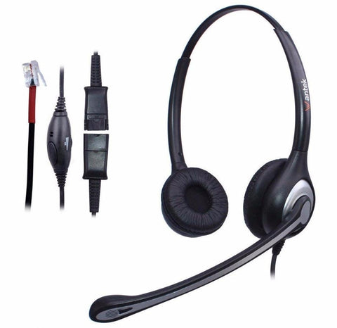 PINkart-USA Default Title Corded Telephone Headset With Noise Canceling Mic + Quick Disconnect For Cisco 7911 7905 Avaya 1616