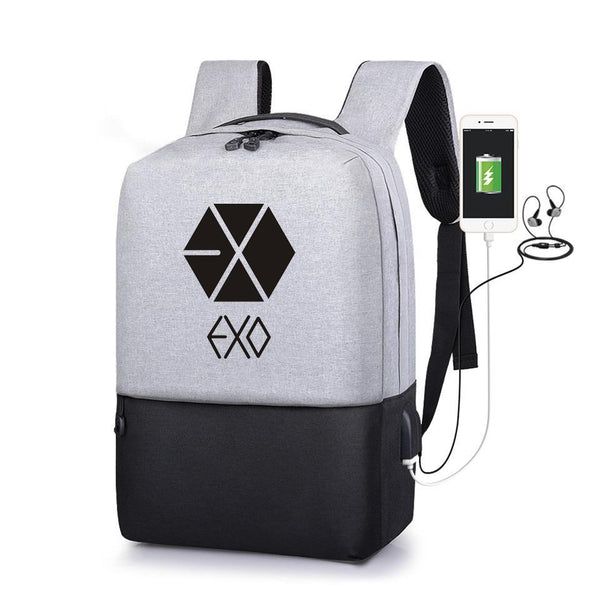 PINkart-USA Default Title Exo Multifunction Usb Charging Backpacks Kpop Rucksacks Student School Bags Casual Travel Exo Mochila Anti-Theft Backpack
