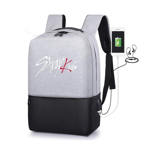 PINkart-USA Default Title Stray Kids Multifunction Usb Charging Men Laptop Backpacks Kpop Mochila Leisure Travel Anti-Theft Backpack