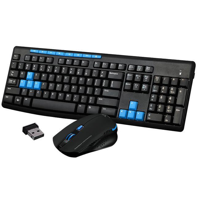 PINkart-USA Default Title Wireless Gaming Keyboard Mouse Combo 2.4G Mice Mechanical Multimedia Set For Computer Pc Qjy99