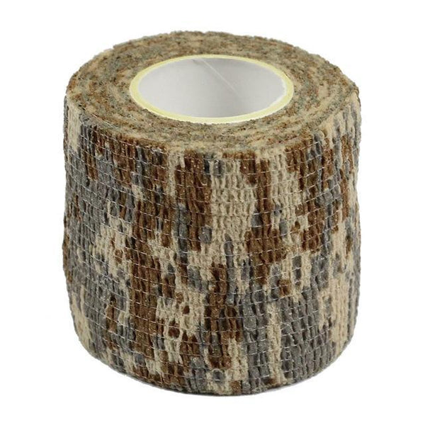 PINkart-USA Diji Camo 4.5M*5M Tactical Camouflage 1 Roll Stretch Bandage Outdoor Hunting War Shooting Tape Gun