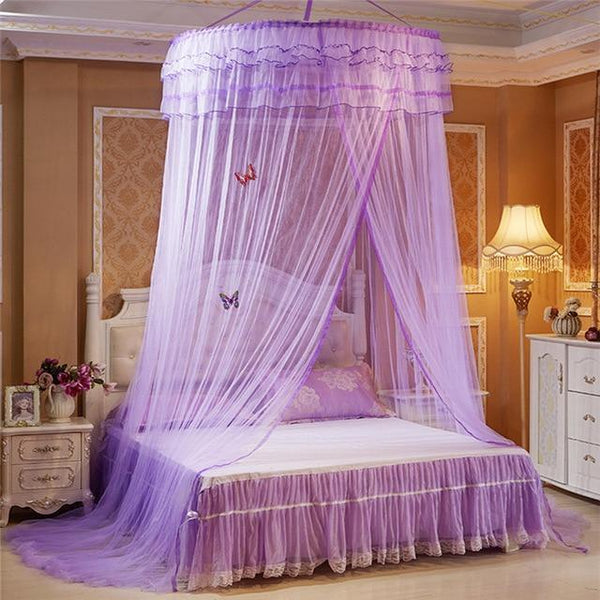 PINkart-USA E Luminous Butterfly Baby Tent Crib Netting Palace Bedroom Bed Curtain Kids Girls Mantle Mosquito Net