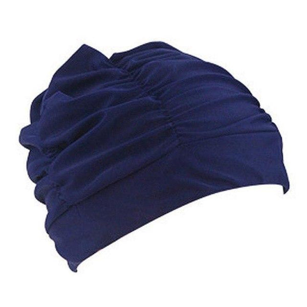 PINkart-USA E / One Size Fit All / China Swimming Hat Women Unisex Girls Long Hair Bathing Cap Vocational Swimming Cap Stretch Drape Swim