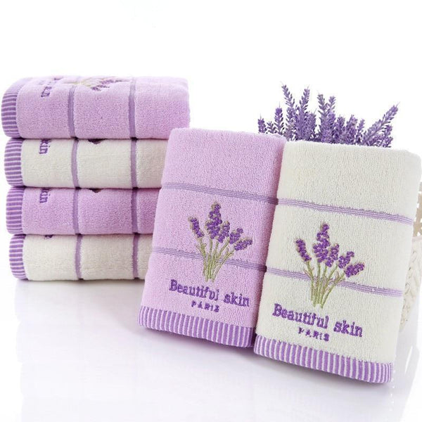 PINkart-USA Elegant Lavender Cotton Terry Towels For Adults Decorative Face Bathroom Hand Towels Toallas De