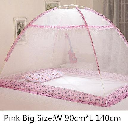 PINkart-USA fensedahao Blue Pink Cartoon Baby Bed Canopy Portable Folding Crib Netting Tent Without Bottom 80*100/90*140
