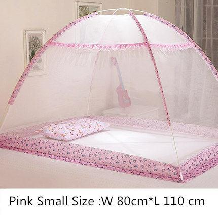 PINkart-USA fensexiaohao Blue Pink Cartoon Baby Bed Canopy Portable Folding Crib Netting Tent Without Bottom 80*100/90*140