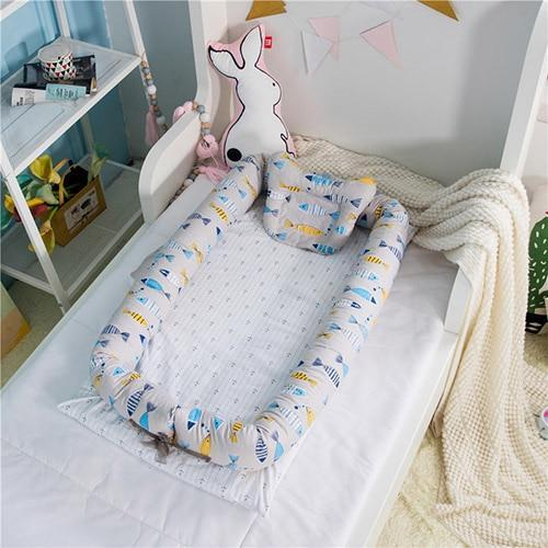PINkart-USA fish Portable Baby Nursery Nest Bed Cot Born Bionic Bed Crib Cot Infant Toddler Sleeping Size Bed