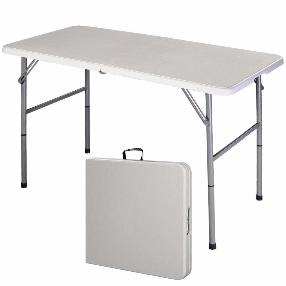 PINkart-USA Folding Table Portable Picnic Party Dining Camp Tables White Modern Desk Utility Office Computer