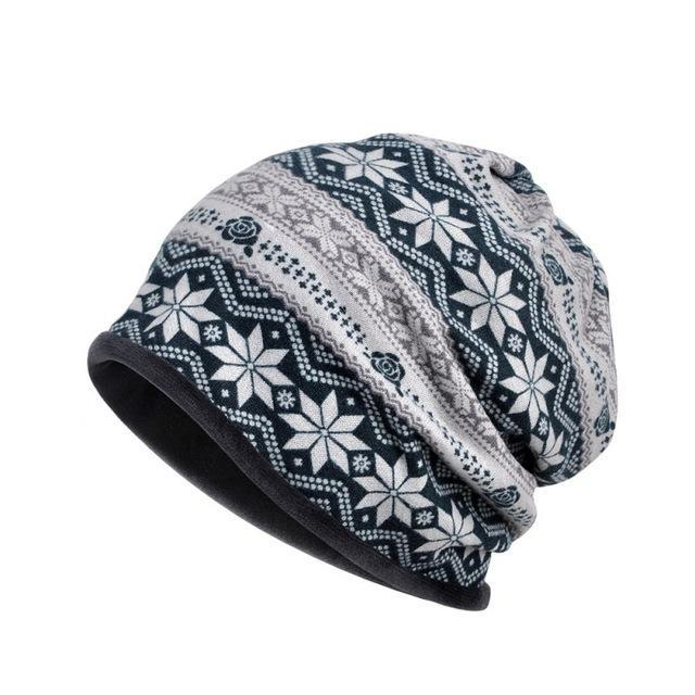 PINkart-USA G Outdoor Windproof Earmuff Cap Scarf Women Simple Style Printed Windproof Thermal Stretch Hat Neck
