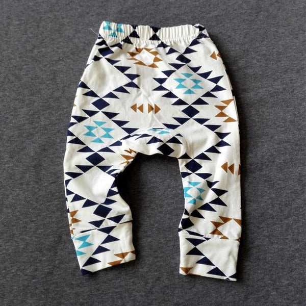 PINkart-USA geometric / 24M Baby Leggings Atutmn Cartoon Baby Leggings Pants Children Trousers Harem Pants Baby Boy Trousers