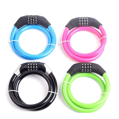 PINkart-USA Giza Maatxx Universal 4 Digit Password Bike Lock Security Steel Wire Lock Bicycle Lock Accessory