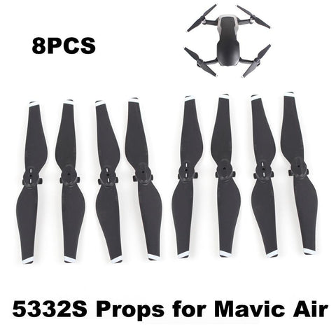PINkart-USA Gold 4 PAIRS 5332S PROPELLER FOR MAVIC AIR DRONE QUICK RELEASE BLADE 5332 PROPS DURABLE SPARE PARTS