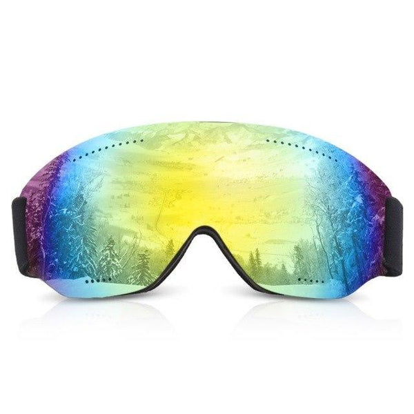 PINkart-USA Gold Uv Protection Ski Goggles Outdoor Winter Sports Skiing Snowboard Goggles For Men And Women Winter