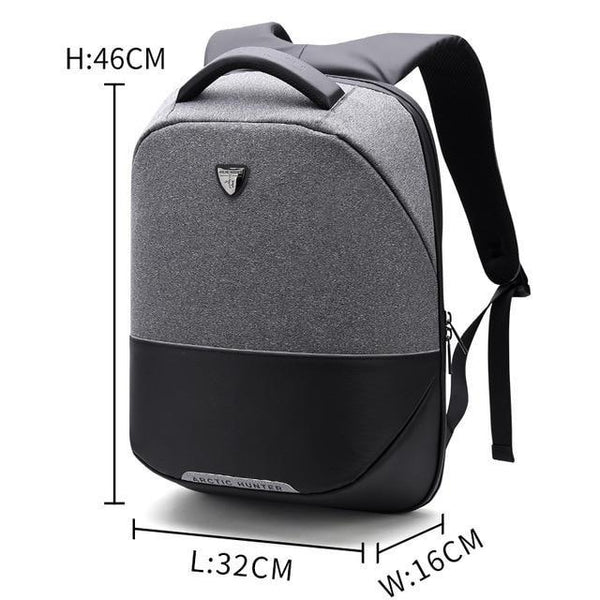 PINkart-USA Gray / 15 Inches Arctic Hunter Brand Men Backpack Anti Theft Usb Charging 15 Inch Laptop Bag Business Travel Casual Back Pack Bag Women Mochilas
