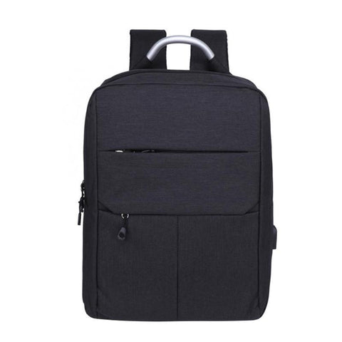 PINkart-USA Gray / 15 Inches Usb Charging Women Men Nylon Backpacks Teenager Business School Travel Laptop Shoulder Bag Large Capacity Casual Backpack