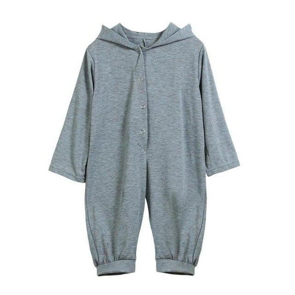 PINkart-USA Gray / 3M Born Infant Baby Boy Girl Dinosaur Hooded Romper Jumpsuit Outfits Clothes Long Sleeve Solid Baby
