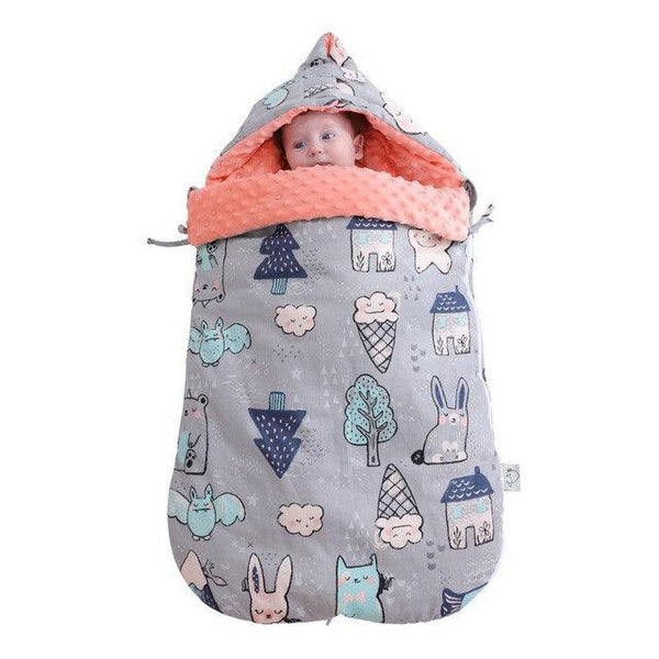 PINkart-USA gray forst Warm Soft Cotton 3D Tactile Granules Sleeping Bag Stroller Bag Thickened Newborn Sleep Sack