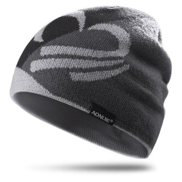 PINkart-USA Gray Knitted Sports Hat Windproof Running Beanie Hat Outdoor Cycling Skull Cap Antibacterial