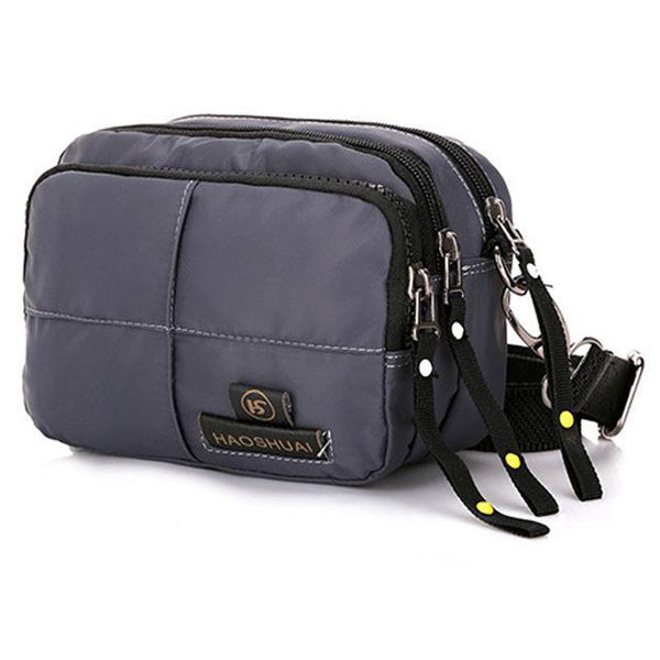 PINkart-USA Gray Men Nylon Belt Fanny Waist Pack Purse Wallet Travel Riding Phone Shoulder Messenger Pocket Belt Bum